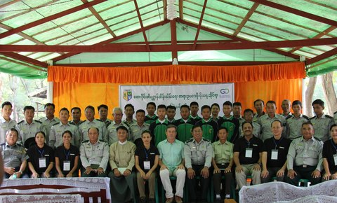 Global Park Defense Deployment at Alaungdaw Kathapa National Park in Myanmar